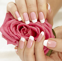 Solar Nails or Pink & White